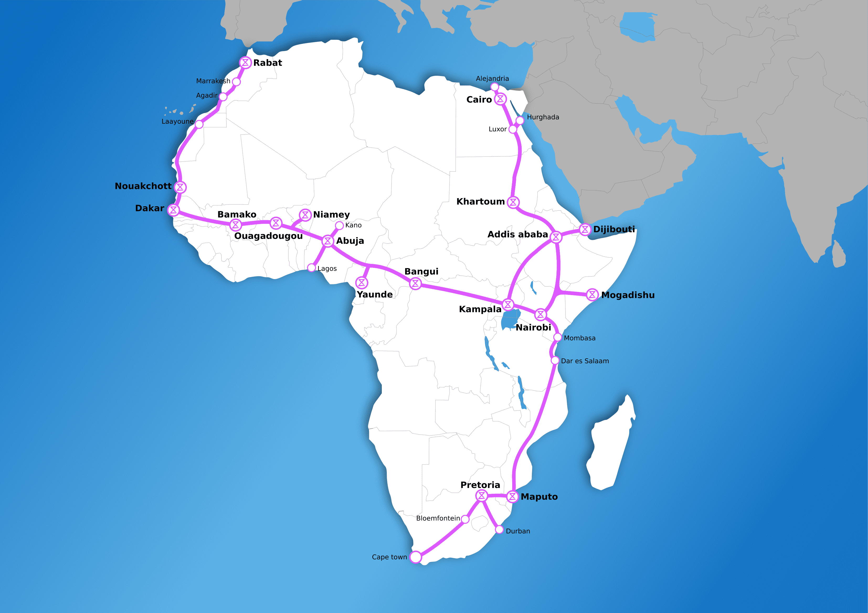 Africa Map Stations