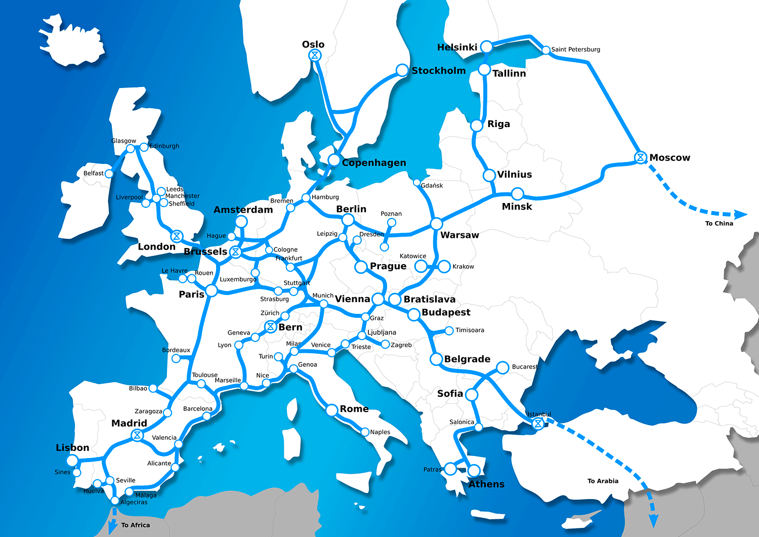 European Map Stations 2050