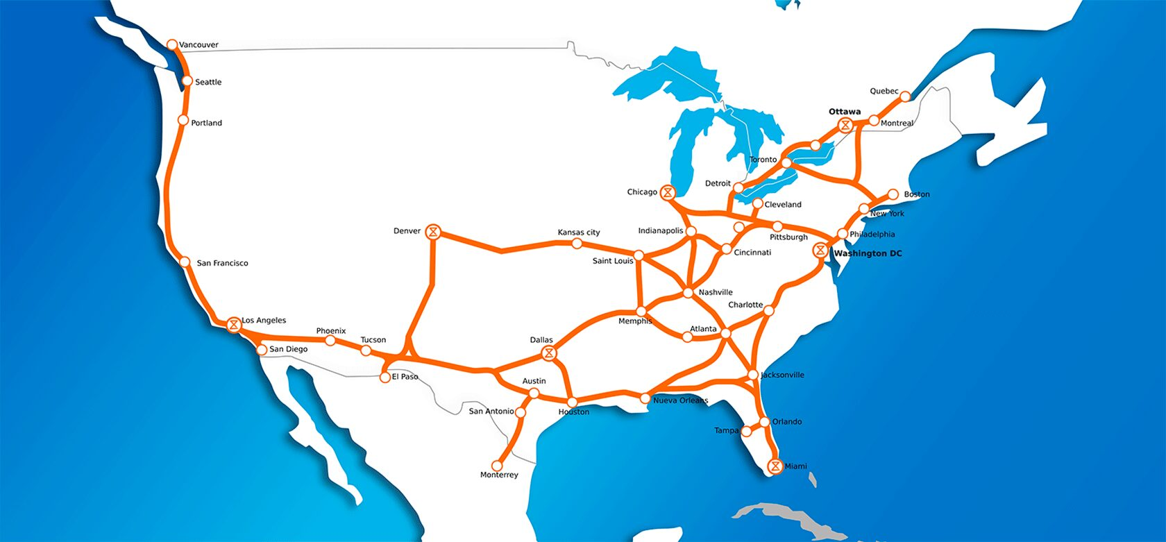 North America Map Station 2050