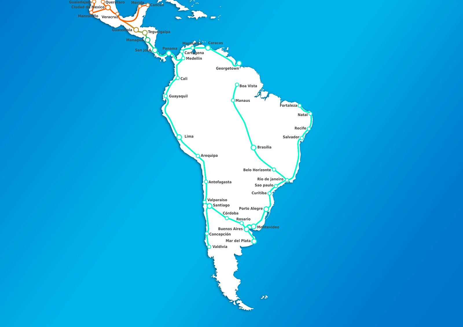 South America 2050 Map Stations