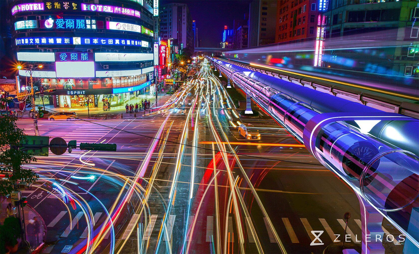 Zeleros hyperloop in the city